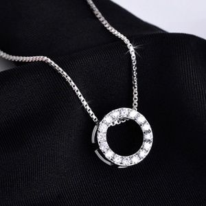 .925 Sterling Silver Collar Pendant Necklace